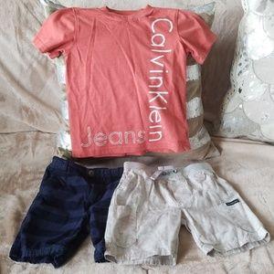 Calvin Klein Toddler Bundle - 2 shorts, 1 shirt